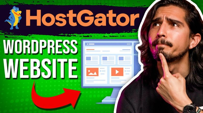 HostGator WordPress Tutorial - Create Your Website The EASY WAY